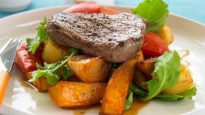 Steak and roasted veg